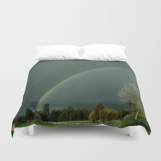 A Colorful Bow for the Rain . . .  Duvet Cover