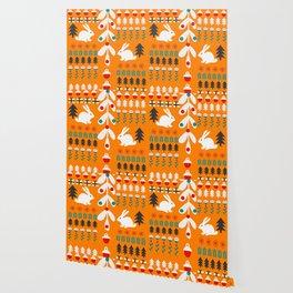 Sweet Christmas bunnies Wallpaper