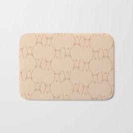 Nude, nudes line drawing/ pattern of female body Bath Mat