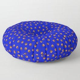 Acorn Pattern-Deep Blue Floor Pillow