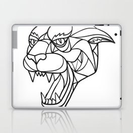 Panther Angry Head Mosaic Black and White Laptop & iPad Skin
