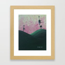 The Devil Trying to Tempt the Last Woman in the Village with the Smell of Fresh Tarmac.  Framed Art Print