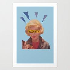 Vacany, Lady Art Print