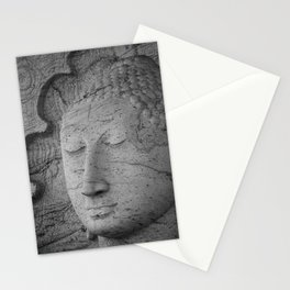 Seated Buddha statue in dhyana mudra pose at Gal Viharaya Stationery Cards