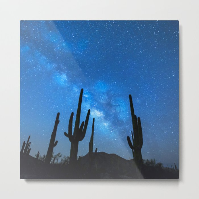 Cacti Milky Way Metal Print