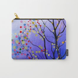 sparkling winter night sky Carry-All Pouch