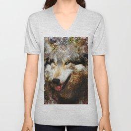Wolf Art Unisex V-Neck