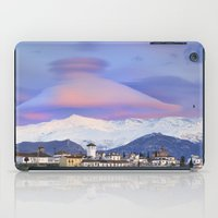 nasa iPad Cases featuring NASA APOD. ASTRONOMY PICTURE OF THE DAY! Lenticular clouds over Granada and Sierra Nevada at sunset by Guido Montañés