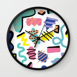 Memphis Retro Wall Clock