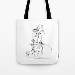 Turtle Fishin Tote Bag