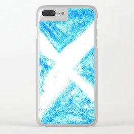 flag of scotland 7– scotland,scot,scottish,Glasgow,Edinburgh,Aberdeen,dundee,uk,cletic,celts,Gaelic Clear iPhone Case