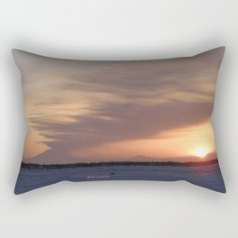 Mt. Redoubt Ashflow at Sunset #1 Rectangular Pillow