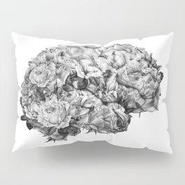 flower brain black and white Pillow Sham
