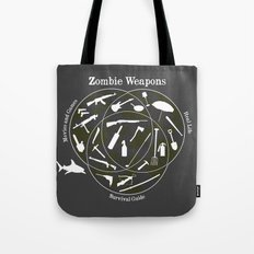 Zombie weapons Tote Bag