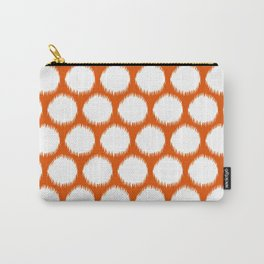 Persimmon Asian Moods Ikat Dots Carry-All Pouch