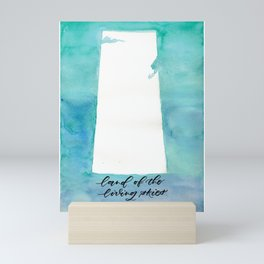 LIVING SKIES green blue Mini Art Print