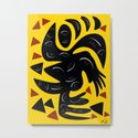 African Yellow abstract minimal and pop art design by emmanuelsignorino