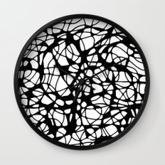 black curves Wall Clock