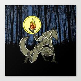 Shewolf knot Canvas Print