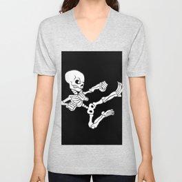 Kung fu Skull Unisex V-Neck
