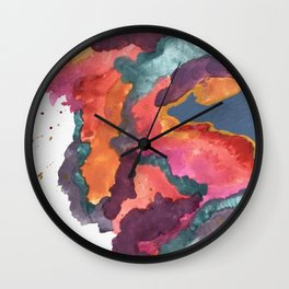 Carnival: a vibrant mixed media piece inspired by New Orleans Wall Clock