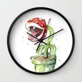 Piranha Plant Art Nintendo Mario Videogame Geek Gaming Wall Clock