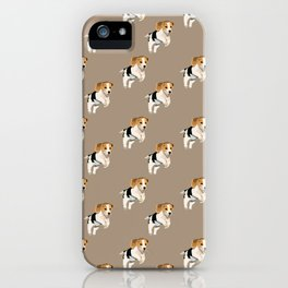 Beagle Pattern iPhone Case