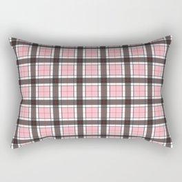 Pink Plaid Pattern Rectangular Pillow