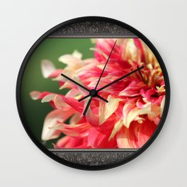Dahlia named Bodacious Wall Clock