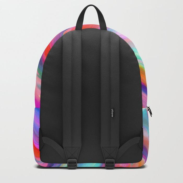 Colorful digital art splashing G399 Backpack
