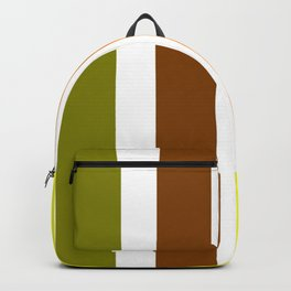 Beginning of Spring Stripes - Abstract - Yellow Green Orange Backpack
