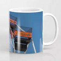 ferris wheel Mugs featuring Ferris Wheel by Steve Purnell