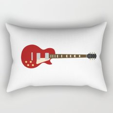 Gibson Les Paul Red Rectangular Pillow