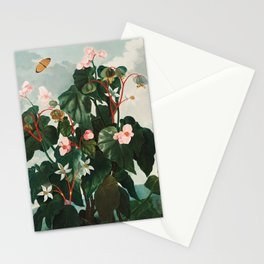 """The Oblique–Leaved Begonia from Robert John Thornton's """"The Temple of Flora""""  Stationery Cards"""