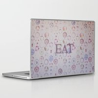 eat Laptop & iPad Skins featuring Eat by Hello Twiggs