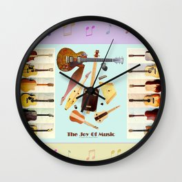 The Joy Of Music Wall Clock