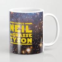 neil gaiman Mugs featuring Neil deGrasse Tyson Cosplays Lando Calrissian  by Josh Abraham