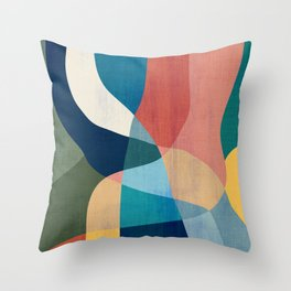 Waterfall and forest Throw Pillow