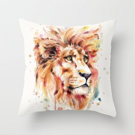 All Things Majestic (lion) Throw Pillow