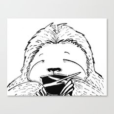 Hungry Sloth Canvas Print