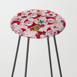 Santa Gift Pattern Counter Stool