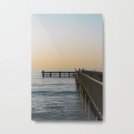 Mediterranean by the pier Metal Print