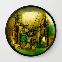 Abstract Oil painting Wall Clock