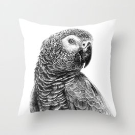 Gray Parot G083 Throw Pillow