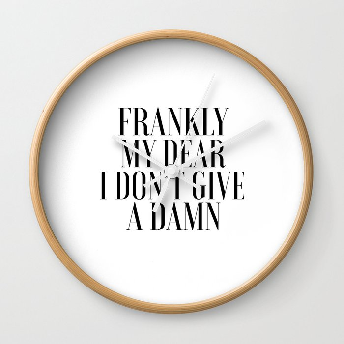 photo relating to Printable Movie Poster titled PRINTABLE WALL Artwork, Frankly My Pricey I Dont Offer A Damn,Video Poster,Video Estimate,Present For Her,Darlin Wall Clock by means of aleksmorin