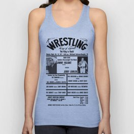 #4 Memphis Wrestling Window Card Unisex Tank Top