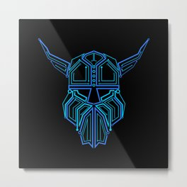 Circuit Board Viking  Metal Print