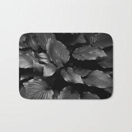 Foliage Black and White Bath Mat