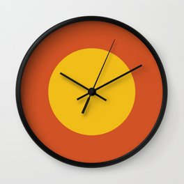 Big Dot, Orange and Yellow Wall Clock
