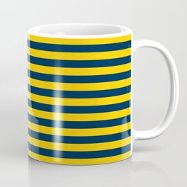 Michigan Team Colors Stripes Coffee Mug
